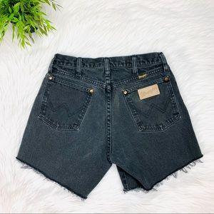 "#207 Wrangler High Waisted Jean Shorts 26"""